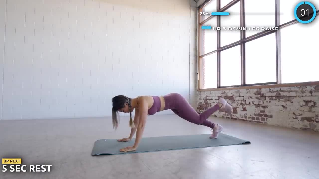 Flat Belly and Round Booty Workout - 15 mins No Equipment